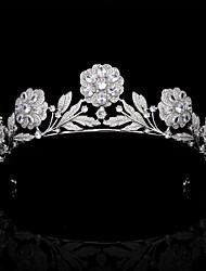 cheap -Royal Retro Rose Headdress Crown Bride Married Zircon Crown Wedding Hair Accessories Wedding Dress Accessories