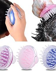cheap -Silicone Shampoo Scalp Brush Shower Body Washing Hair Massage Massager Brush Comb Bath Spa Slimming Comb