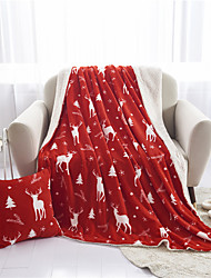 cheap -Elegant Comfort Luxury Velvet Super Soft Christmas Elk Blanket-Holiday Theme Home Décor Fuzzy Warm and Cozy Throws for Winter Bedding, Couch and Gift