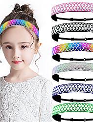 cheap -10PCS New Style Children's Sports Hair Band Elastic Elastic Fish Scale Hair Band Mermaid Head Band Hair Band Hair Accessories Headdress