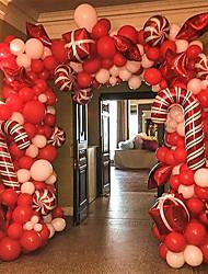 cheap -Christmas Foil Balloon Set 142 Piece Set Christmas Decorations Christmas Ornaments Holiday Decorations Party Garden Wedding Decoration