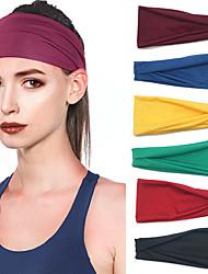 cheap -7 Pcs/set Sports Headbands Yoga Sweat-absorbent Belts for Men And Women Running Fitness Headbands Stretch Cotton Headbands Pure Color Headbands