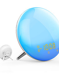 cheap -WiFi Smart Wake Up Light Workday Alarm Clock with 7 Colors Sunrise/Sunset Smart Life Tuya APP Works with Alexa Google Home