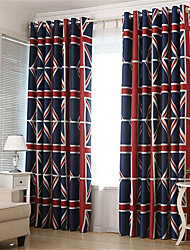 cheap -Window Curtain Window Treatments Blue Bohemian 1 Panel Room Darkening Grommet Rod Pocket Solid For Living Room Bed Room