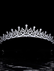 cheap -Korean Style Simple Bride Wedding Wedding Headdress Zircon Crown Birthday Princess Crown Dress Wedding Accessories