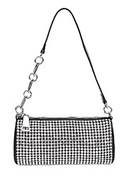 cheap -Women's Bags PU Leather Evening Bag Crystals Chain Rhinestone Party / Evening Daily Evening Bag Handbags Chain Bag Silver