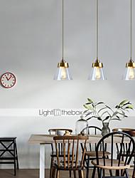 cheap -16.5 cm Pendant Lantern Design Pendant Light Glass Cone Electroplated Modern 220-240V
