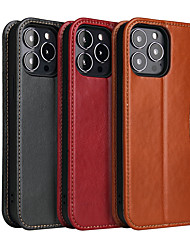 cheap -Phone Case For Apple Full Body Case Leather iPhone 13 iPhone 13 Pro Max iPhone 13 Mini iPhone 13 Pro Wallet Shockproof Dustproof Solid Colored PU Leather