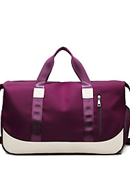 cheap -Women's Large Capacity Waterproof Sports Oxford Cloth Travel Bag Zipper Solid Color Daily Outdoor Purple Light Purple Dusty Rose Pink