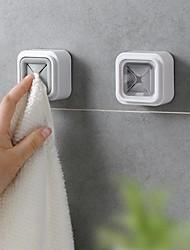 cheap -Punch Free Towel Plug Holder Bathroom Organizer Rack Towels Storage Wash Cloth Clip Bathroom Accessories Kitchen Accessories