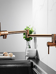 cheap -Kitchen faucet - Two Handles One Hole Electroplated / Brushed Gold Pot Filler Centerset Contemporary / Antique Kitchen Taps cold and hot only on