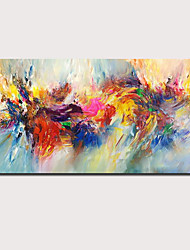 cheap -Oil Painting Handmade Hand Painted Wall Art Abstract Red and YellowSeascape Landscape Home Decoration Decor Rolled Canvas No Frame Unstretched