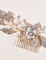 cheap -Wedding Bridal Alloy Hair Combs / Flowers / Headdress with Flower / Crystals / Rhinestones 1 PC Wedding / Special Occasion Headpiece