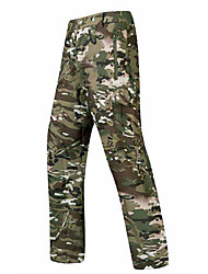 cheap -Men's Camouflage Hunting Pants Tactical Pants Softshell Pants Thermal Warm Waterproof Windproof Multi-Pockets Autumn / Fall Winter Spring Camo / Camouflage Fleece Softshell Bottoms for Skiing Camping