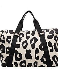 cheap -Women's Large Capacity Waterproof Sports Oxford Cloth Travel Bag Zipper Print Geometric Cow Print Daily Outdoor Fuchsia Black / Unisex