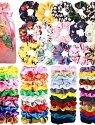 cheap -65 Pcs Hair Scrunchies Velvet Hair Scrunchies Silk Scrunchies Chiffon Flower Scrunchies Elastic Hair Ties Ropes Scrunchie for Women or Girls Hair Accessories for Christmas New Year
