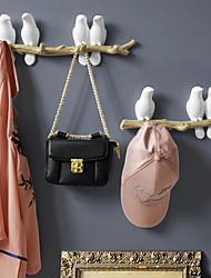 cheap -Wall Decorations Home Accessories Living Room Hanger Resin Bird Hanger Key Kitchen Coat Clothes Towel Hooks Hat Handbag Holder Random Color