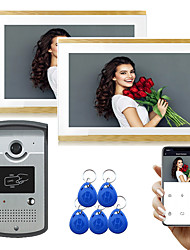 cheap -LITBest Wired & Wireless Photographed / Recording / RFID 9.7 inch Hands-free One to Two video doorphone