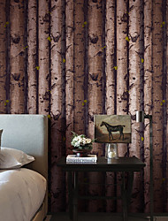 cheap -Wallpaper Wall Covering Sticker Film Peel and Stick Removable Faux Wood Sensation Non Woven Home Decor 53*1000cm
