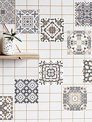 cheap -Nordic Thicken Tiles Self-adhesive Paper Bohemian Kitchen Oil And Waterproof Removable Wall Stickers