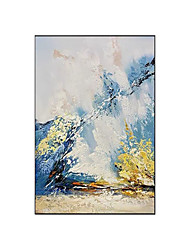 cheap -Oil Painting Handmade Hand Painted Wall Art Modern Blue Yellow White Abstract Picture Home Decoration Decor Rolled Canvas No Frame Unstretched