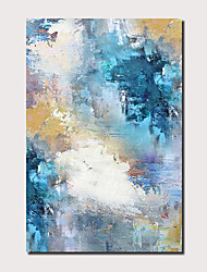cheap -Oil Painting Handmade Hand Painted Wall Art Abstract Sky Blue Seascape Landscape Home Decoration Decor Rolled Canvas No Frame Unstretched