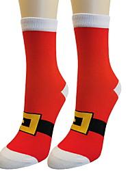 cheap -Fashion Comfort Women's Socks Christmas Stockings Socks Medium Christmas Wine 1 Pair / Casual Socks