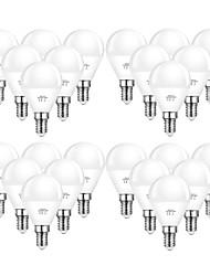 cheap -24pcs 6 W LED Globe Bulbs 550 lm E14 G45 20 LED Beads SMD 2835 Decorative Warm White Cold White 220-240 V 110-130 V