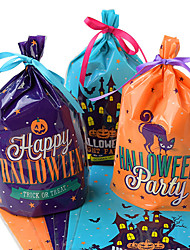 cheap -20 Pieces Halloween Candy Bags Cute Gift Bag Trick or Treat Kids Gift Pumpkin Bat Candy Boxes Halloween Party Decoration Supplies