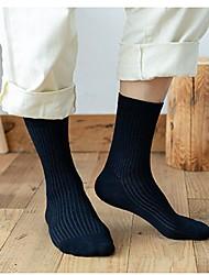 cheap -Comfort Men's Socks Solid Colored Socks Warm Casual Khaki 1 Pair