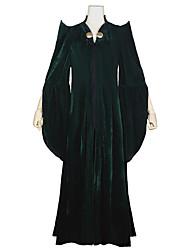 cheap -Harry Potter Witch Minerva McGonagall Dress Masquerade Women's Movie Cosplay Vacation Halloween Dark Green Dress Hat Halloween Carnival Masquerade Polyester