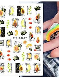 cheap -8pcs Fruits Summer Decals Sticker for Manicure DIY Avocado Pawpaw Summer Green Nail Inspiration Gel Polish Nail Slider