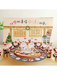 cheap -japan authorized taiwan creative 3d three-dimensional christmas greeting card decoration gift card santa carousel sushi