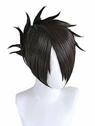 cheap -halloweencostumes for promised neverland ray cosplay wig men halloween costume anime wigs short black