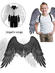 cheap -Halloween 3D Angel Wings Mardi Gras Theme Party Cosplay Wings For Kids Adult Big Black Wings Devil Costume