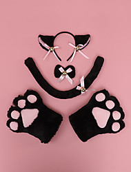 cheap -Hair Band Cat Claw Suit a Generation of Cute Japanese Plush Hand-Made Cat Claw Bow Tie Animal Ears Beast Tail Cos Props
