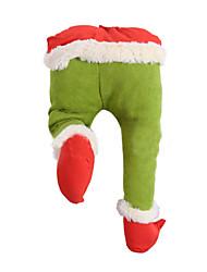 cheap -Christmas Tree Decoration Grinch Green Artificial Leg Corduroy Door Decoration Santa Elf Leg