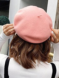 cheap -Women's Beret Hat Street Daily Pure Color Pure Color Red Gray Hat