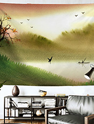 cheap -Landscape Painting Wall Tapestry Art Decor Blanket Curtain Hanging Home Bedroom Living Room Decoration Polyester