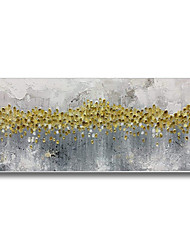 cheap -Oil Painting Handmade Hand Painted Wall Art Modern Nordic Abstract Texture Golden Home Decoration Decor Rolled Canvas No Frame Unstretched