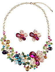 cheap -Necklace Women's AAA Cubic Zirconia Multicolor Flower Fashion Cute Lovely Wedding Rainbow 45 cm Necklace Jewelry 1pc for Wedding Gift irregular