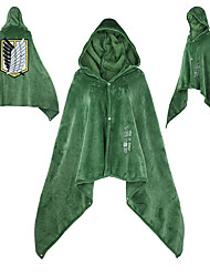 cheap -Inspired by Attack on Titan Jiyuu no Tsubasa Anime Cosplay Costumes Japanese Cosplay Hoodies Cloak For Men's Women's