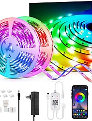 cheap -LED Strip Lights 65.6Ft-20M Color Changing LED Light Strips with Music Sync Remote Built-in Mic Bluetooth App Control RGB LED Lights for Bedroom Party Kitchen TV Home