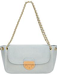 cheap -Women's Bags Canvas Crossbody Bag Buttons Chain Cute Daily Office & Career Handbags Chain Bag Sky Blue Dark Blue
