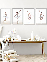 cheap -Wall Art Canvas Prints Painting Artwork Picture Ballet Girl Home Decoration Decor Rolled Canvas No Frame Unframed Unstretched
