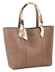 cheap -Women's Bags Genuine Leather Cowhide Tote Satchel Casual Daily khaki Green Black Coffee