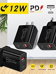 cheap -12 W Output Power USB PD Charger Fast Charger Portable QC 3.0 Fast Charge CE Certified For Cellphone 1 PC
