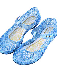 cheap -Girls' Sandals Lightweight Cosplay Princess Shoes PVC Casual / Daily Big Kids(7years +) Daily Blue Purple White Summer
