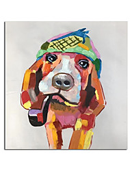 cheap -Oil Painting Handmade Hand Painted Wall Art Modern Cartoon Dog Abstract Animal Home Decoration Decor Rolled Canvas No Frame Unstretched