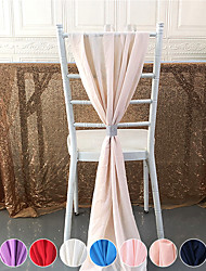 cheap -Chiffon Chair Sashes - White, Chair Sashes for Weddings, Events, Hotels and Catering Services 72*200cm/28*7inch